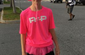 young boy wearing pink r2p shirt at tuscarora high school