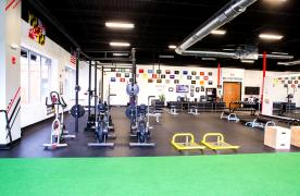 Bikes, weight rack, sleds