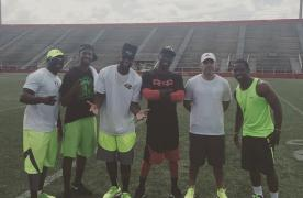 Lardarius Webb and friends at football camp